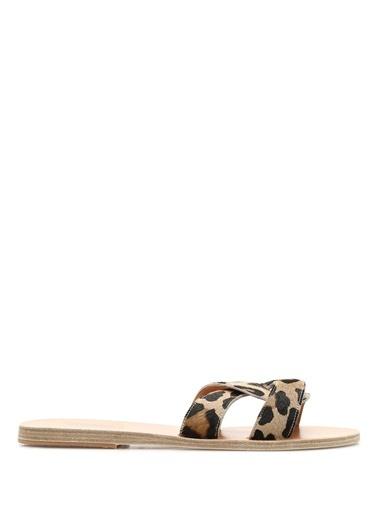 Ancient Greek Sandals Terlik Leopar